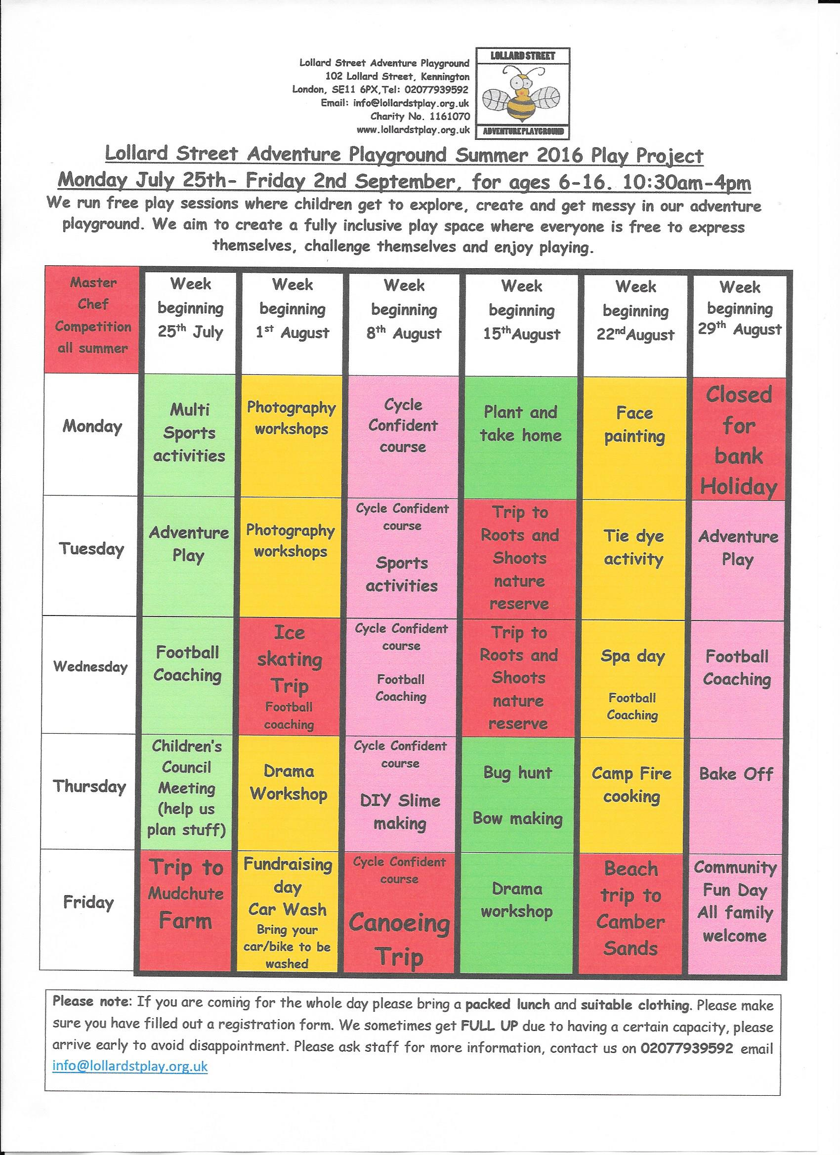 Summer timetable 160005